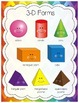 2D Shapes and 3D Shapes (Forms) Poster Set (Set of 25 English/Spanish)