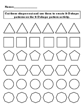 2-D Shapes for Cutouts