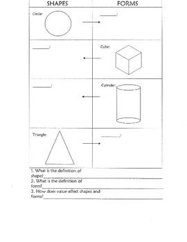 "2-D Shapes to 3-D Forms ""Mini-Activity"""