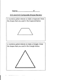 2-D and 3-D Composite Shape Review or Quiz