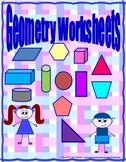 2-D and 3-D Geometry Worksheets for Grades 2 and 3