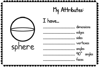 2-D and 3-D Shape Attributes Book