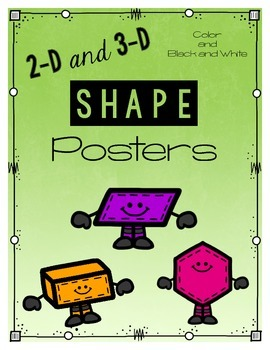 2-D and 3-D Shape Posters