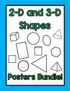 2-D and 3-D Shape Posters- BUNDLE!!