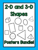 2-D and 3-D Shape Posters- BUNDLE!!