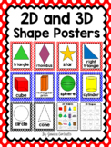 2-D and 3-D Shape Posters {Red and Blue Polka Dot}