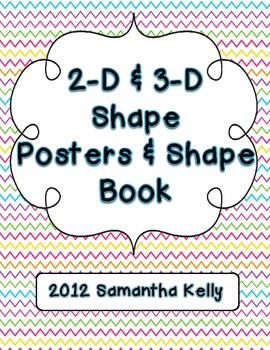 2-D and 3-D Shape Posters and Shape Book