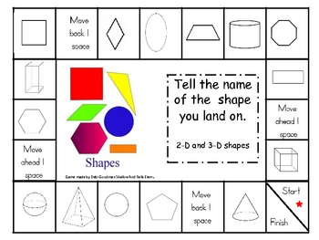 2-D and 3-D Shape Recognition game