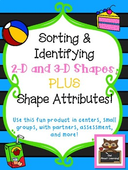 2-D and 3-D Shape Sort Centers and Printable Activities!