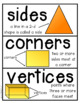 2-D and 3-D Shape Sort (posters, vocabulary, games and wor