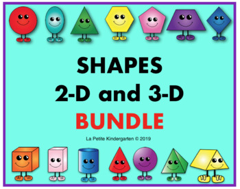 2-D and 3-D Shapes BUNDLE