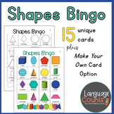 2-D and 3-D Shapes Bingo