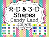 2-D and 3-D Shapes Candy Land Cards