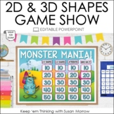 2D and 3D Shapes Geometry Game Show | Editable PowerPoint