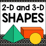 2D and 3D Shapes - Flat and Solid Shapes Worksheets and Math Center