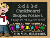 2-D and 3-D Shapes Posters Chalkboard Decor
