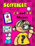 2-D and 3-D Shapes Scavenger Hunt