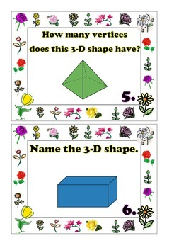 """2D and 3D Shapes"" Scoot Game"