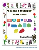 """""""2D and 3D Shapes"""" Scoot Game"""