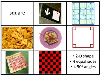 2-D and 3-D Shapes Sort and Choice Board