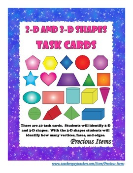 2D and 3D Shapes - Task Cards