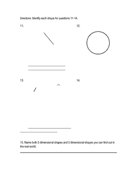 2-D and 3-D Shapes Test
