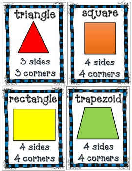 DJ Inkers 2-D and 3-D Shapes and Fractions Poster Set