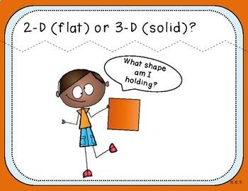 2-D or 3-D? Teacher Slides (Kindergarten, K.G.3)