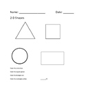 2-D shapes assessment