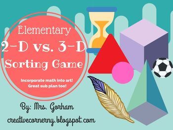 2-D vs. 3-D Sorting Game