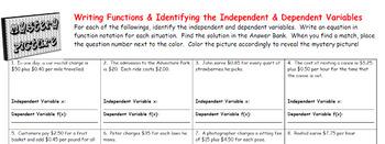 EMOJI - Writing Functions (& Independent & Dependent Var)