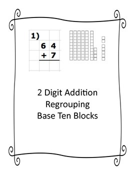 2-DIGIT ADDITION W_WO REGROUPING Worksheet