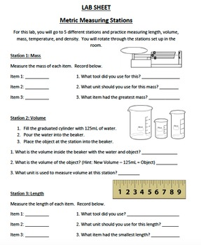 2 Day Introduction to the Metric System and Measuring