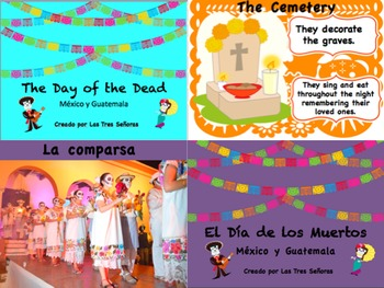 2 Day of the Dead PowerPoints in Spanish and English (each 47 slides)