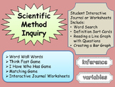 SCIENTIFIC Method Inquiry Journal Matching Word Wall I have Who has Game Groups