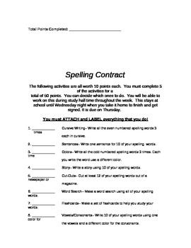 2 Different Types of Spelling Contracts