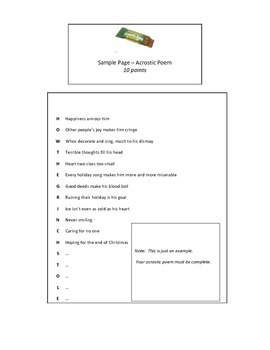 #2 - Differentiated menu of activities for independent reading book