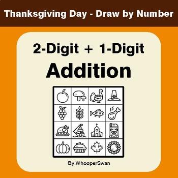 Thanksgiving Math 2 Digit 1 Digit Addition Math Art Draw By