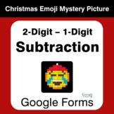 2-Digit - 1-Digit Subtraction - Christmas EMOJI Mystery Pi