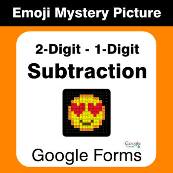 2-Digit - 1-Digit Subtraction - EMOJI Mystery Picture - Google Forms