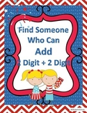 2 Digit + 2 Digit Find Someone Who Can Add