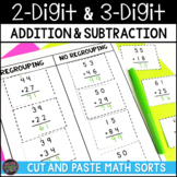 2-Digit Addition and Subtraction & 3-Digit Addition and Subtraction Sorts