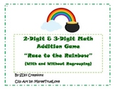 2-Digit & 3-Digit Addition Game: St. Patrick's Day Themed