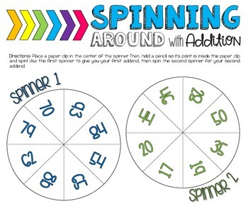 2-Digit & 3-Digit Addition and Subtraction Spinner Games