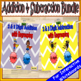 2 Digit & 3 Digit Addition and Subtraction With Regrouping BUNDLE