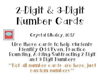 2-Digit & 3-Digit Number Cards