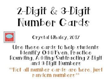 2-Digit & 3-Digit Number Cards
