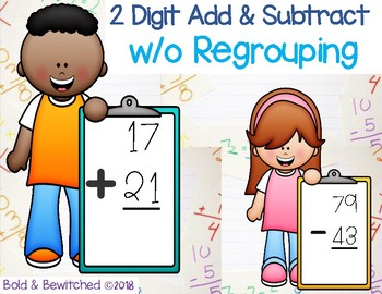 2 Digit Add and Subtract W/o Regrouping