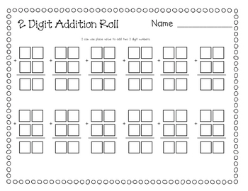 2 Digit Addition by Ashley Culbertson | Teachers Pay Teachers