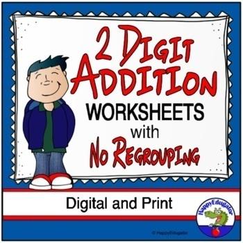 2 Digit Addition Worksheets no Regrouping